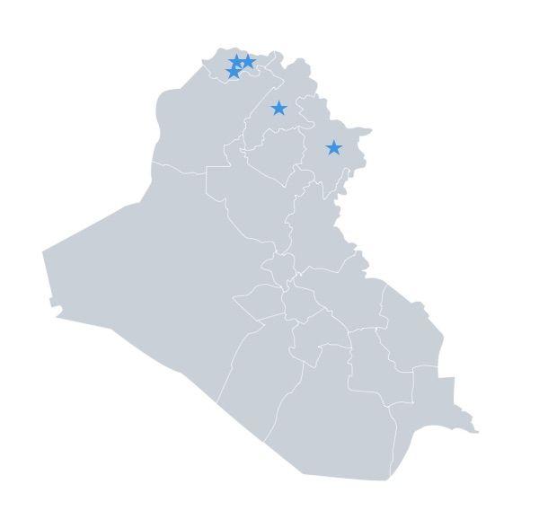 5 teams in North Iraq