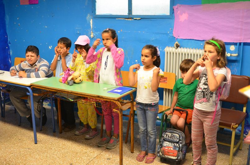 Refugee kids in Athens